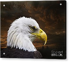 We The People Acrylic Print by Cris Hayes
