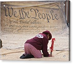 We The People Acrylic Print by Jim West