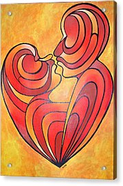 Acrylic Print featuring the painting We Two Are One by Tracey Harrington-Simpson