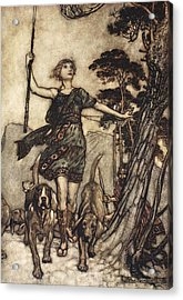 We Will, Fair Queen Acrylic Print by Arthur Rackham