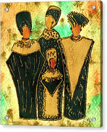 We Women 4 - Suede Version Acrylic Print by Angela L Walker