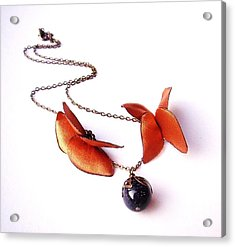 Wearable Art . Never Ending Love . One Of A Kind Necklace Acrylic Print by Marianna Mills
