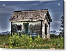 Weathered And Worn Well  Acrylic Print by Saija  Lehtonen