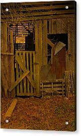 Weathered Barn Detail Acrylic Print by Nina Fosdick