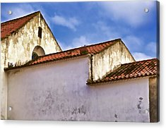 Weathered Barn Of Medieval Europe Acrylic Print by David Letts