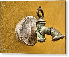 Weathered Brass Water Spigot Acrylic Print
