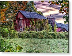 Weathered Connecticut Barn Acrylic Print