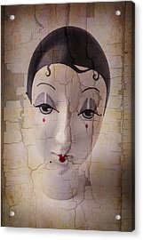 Weathered Doll Face Acrylic Print
