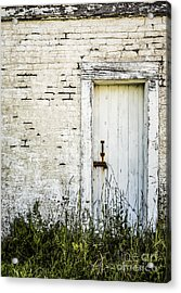 Weathered Door Acrylic Print by Diane Diederich