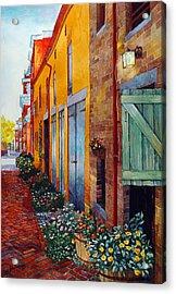 Weathered Door Rustic Path Acrylic Print