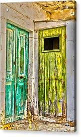 Weathered Doors Acrylic Print by Patricia Hofmeester