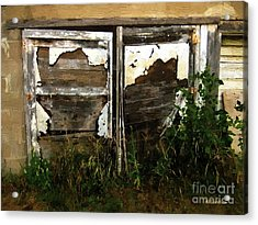 Weathered In Weeds Acrylic Print by RC DeWinter