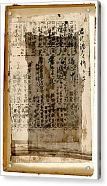 Weathered Pages Acrylic Print by Carol Leigh