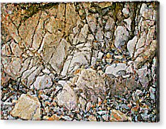 Weathered Rock Face Owlshead Acrylic Print by Peter J Sucy