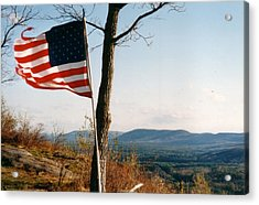 Weathered Stars And Stripes Acrylic Print