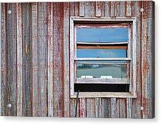 Weathered Window I Acrylic Print by Paulette B Wright
