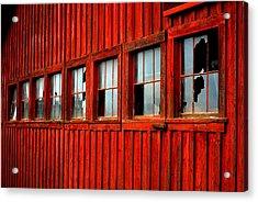 Weathered Windows Acrylic Print by Mamie Gunning