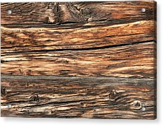 Weathered Wood 6 Acrylic Print by Charles Lupica