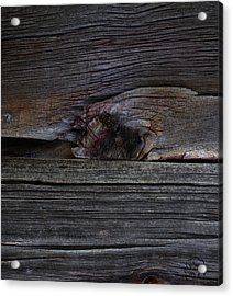 Weathered Wood - Dusk Acrylic Print by Patricia Kay