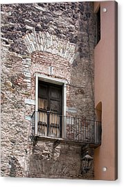 Acrylic Print featuring the photograph Weathered Wooden Church Doors by Lynn Palmer
