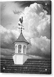 Weathervane And Clouds Acrylic Print
