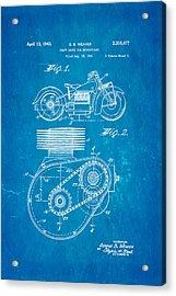 Weaver Indian Motorcycle Shaft Drive Patent Art 1943 Blueprint Acrylic Print by Ian Monk