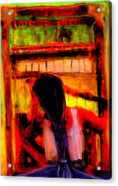 Weaving A Story Acrylic Print by FeatherStone Studio Julie A Miller