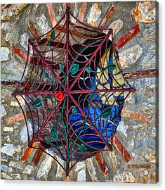 Web For Windows Acrylic Print by Graham Hawcroft pixsellpix