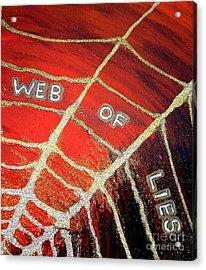 Web Of Lies Acrylic Print