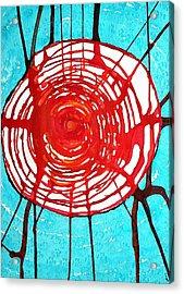 Web Of Life Original Painting Acrylic Print by Sol Luckman