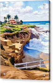 Wedding Bowl La Jolla California Acrylic Print by Mary Helmreich