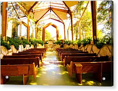 Acrylic Print featuring the photograph Wedding Chapel by Joseph Hollingsworth