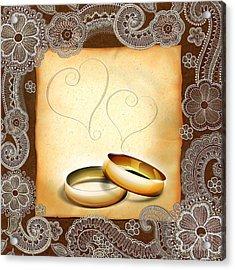Wedding Memories V1a Classic Acrylic Print by Peter Awax