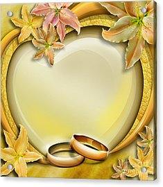 Wedding Memories V3 Acrylic Print