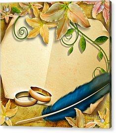 Wedding Memories V4 Natural Acrylic Print by Bedros Awak