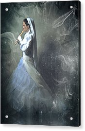 Wedding Night Of A Reluctant Bride - Vintage Style Acrylic Print by Georgiana Romanovna