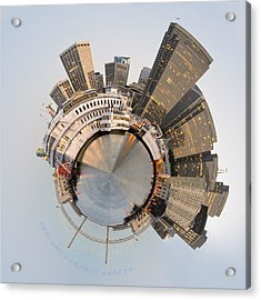 Wee San Francisco Planet Acrylic Print by Nikki Marie Smith