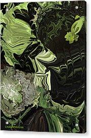 Acrylic Print featuring the digital art Weeds The Gardener's Nightmare by Linda Whiteside