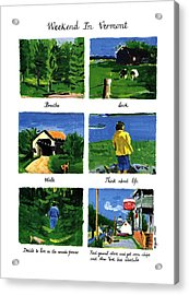 Weekend In Vermont Acrylic Print by Huguette Marte