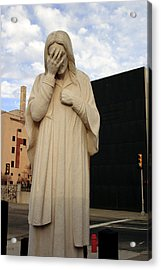 Weeping Jesus Statue In Oklahoma City Acrylic Print