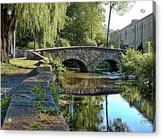 Weeping Willow Bridge Acrylic Print