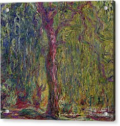 Weeping Willow Acrylic Print by Claude Monet