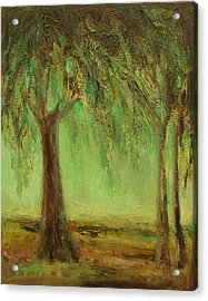 Weeping Willow Acrylic Print by Mary Wolf
