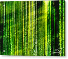 Weeping Willow Tree Ribbons Acrylic Print