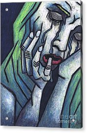 Weeping Woman Acrylic Print by Kamil Swiatek