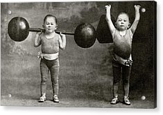 Weightlifting Dwarfism Exhibits Acrylic Print by American Philosophical Society