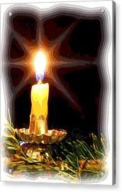 Acrylic Print featuring the photograph Weihnachtskerze - Christmas Candle by Ludwig Keck
