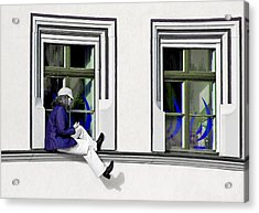 Weimar Girl Acrylic Print by Christine Till