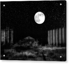 The Brilliant Full Moon Lit The Night Sky Acrylic Print by Gothicrow Images