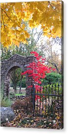 Welcome Autumn Acrylic Print by Brooks Garten Hauschild